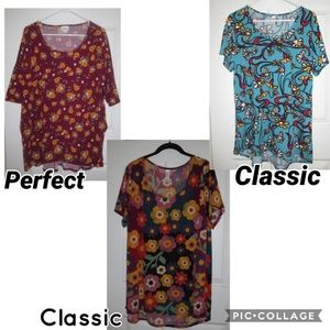 LuLaRe Classic & Perfect T's ~ Set of Three.Shirts